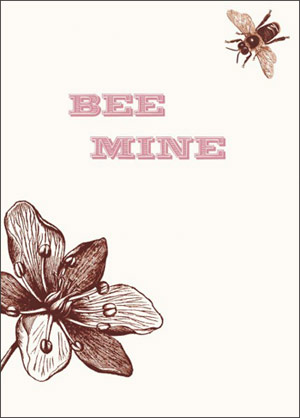 Papered Together Bee Mine Valentine's Day Card