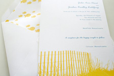 Parrott Design Wedding Invitations