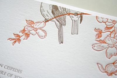 Parrott Design Wedding Invitations