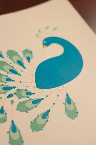 DIY Free Printable Peacock Print