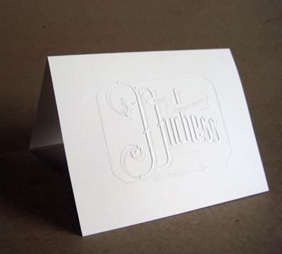 Pinball Publishing Blind Embossed Card