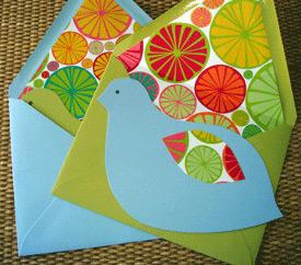 Posh Peacock Citrus Bird Cards
