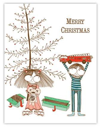 Red Cap Cards Christmas