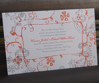 Robin Beth Letterpress Wedding Invitations