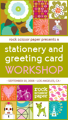 Rock Scissor Paper Stationery and Greeting Card Workshop