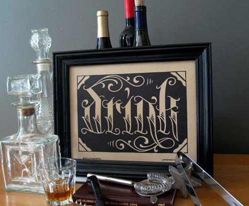 Roll & Tumble Press Drink Print