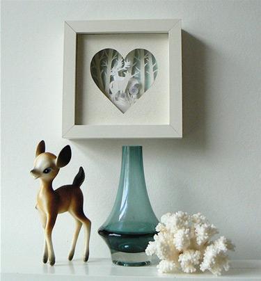 Sanfran67 In Love Wood Paper Sculpture