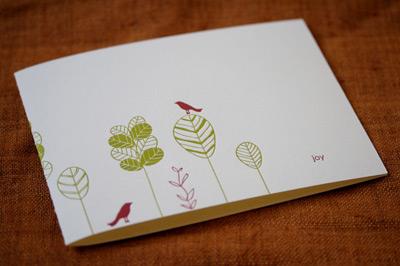 2008 Satsuma Press Letterpress Holiday Card