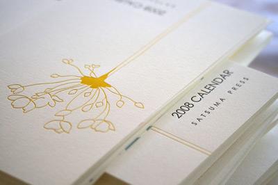 2008 Satsuma Press Letterpress Calendar