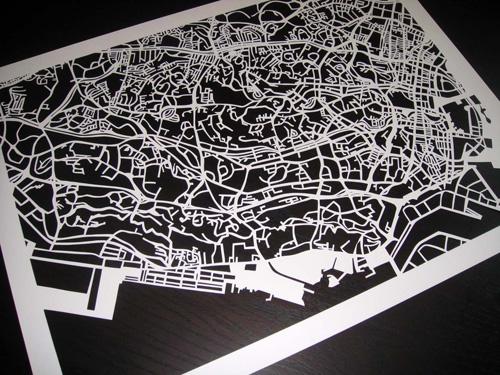 Karen O' Leary Singapore Papercut Map