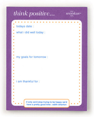 Snookus Think Positive Notepad