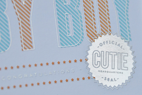 Letterpress Baby Congratulations Cards by The Social Type