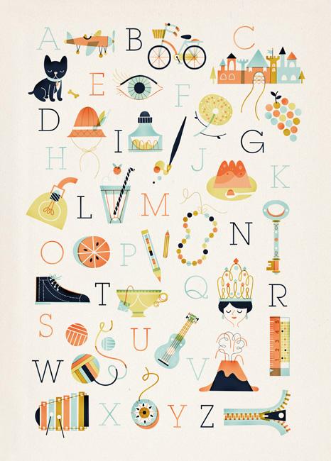 Sol Linero Alphabet Print