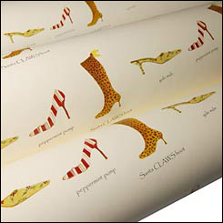 Holiday Shoes Wrapping Paper at Soleberry
