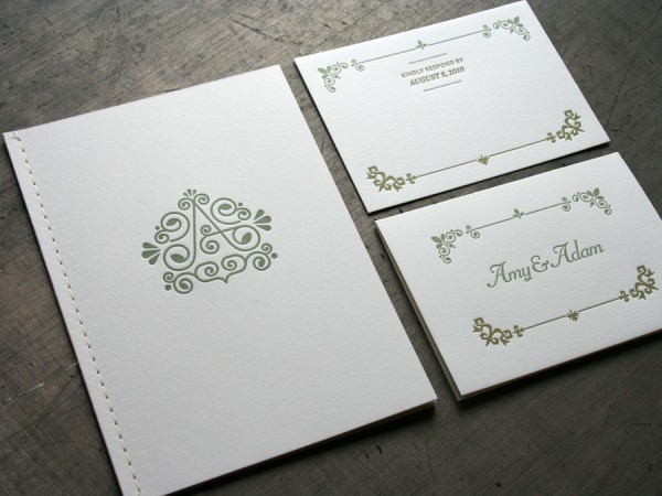 Stitched Booklet Wedding Invitations