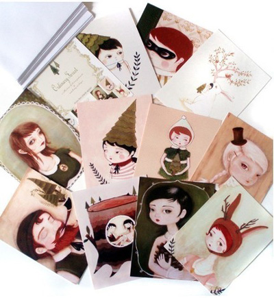 The Black Apple Ordinary Forest Postcards
