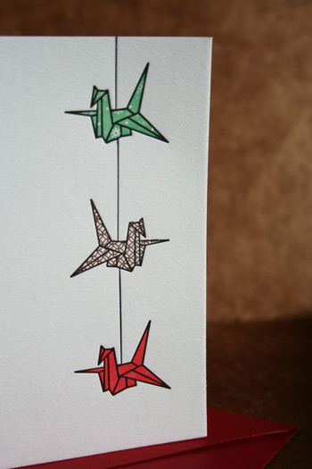 Twin Ravens Letterpress Crane Cards