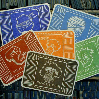 Two Tone Press Letterpress Cards