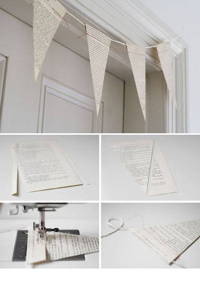DIY Bunting Vintage Books