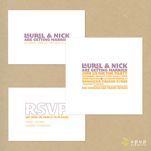 Eco Friendly Wedding Invitations Up Up Creative