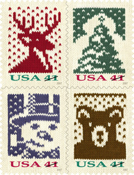 U.S. Holiday 2007 Postage Stamps
