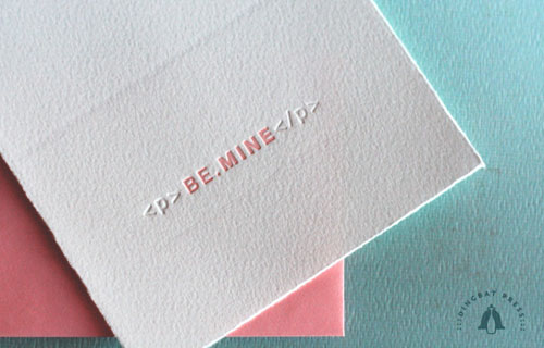 Dingbat Press Valentine's Day Letterpress