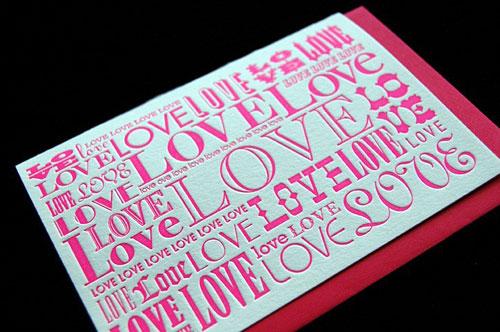 Kirtland House Letterpress Valentine's Day Cards