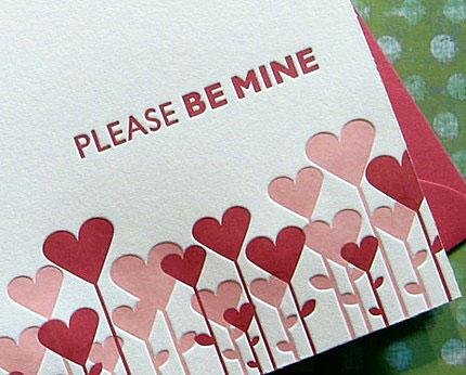 Sweet Harvey Letterpress Valentine's Day Cards