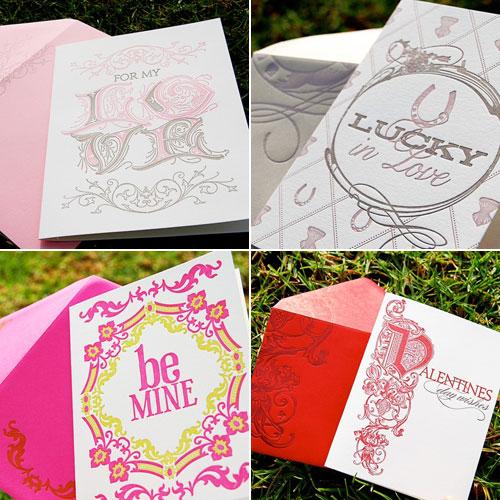 Wiley Valentine Letterpress Valentine's Day