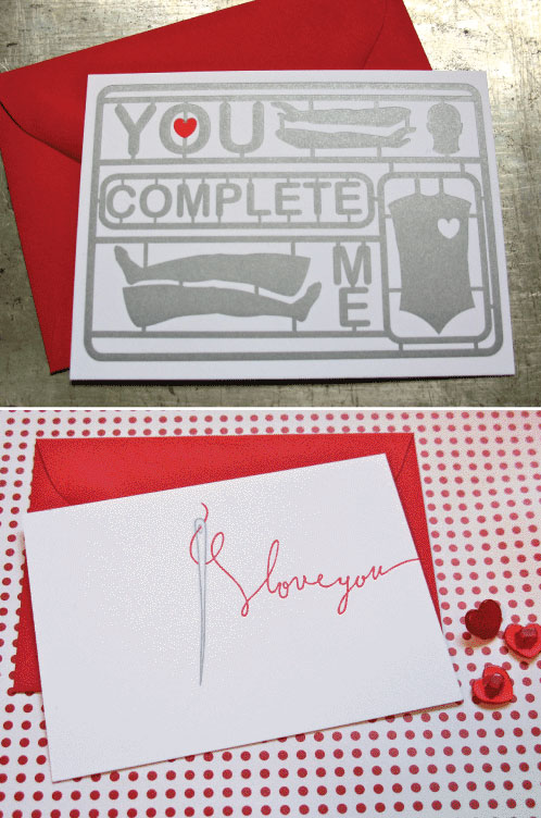 d. sharp Letterpress Valentine's Day Cards