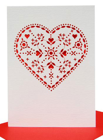Laser Cut Valentine's Day Cards