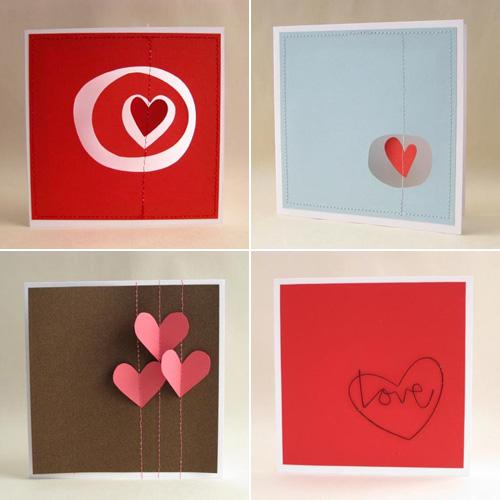 Fold Mini Valentine's Day Cards