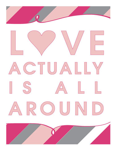 Love, Actually Printable Poster