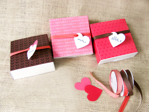 printable valentines day box sleeves