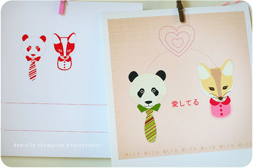 Fox & Panda Printable Valentine's Day Cards