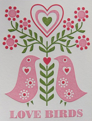 Dutch Door Letterpress Valentines