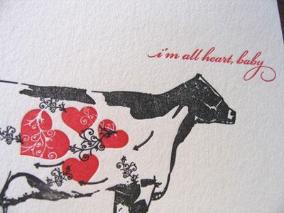 Thomas Printers Letterpress Valentine