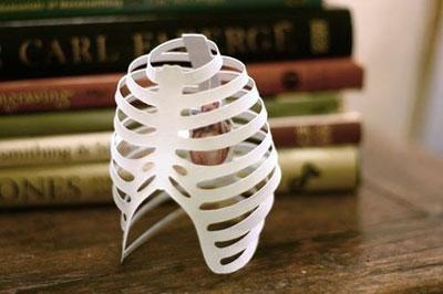 Paper Ribcage Valentine