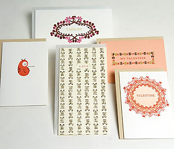 Egg Press Valentine's Day Letterpress Cards