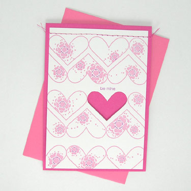 Smudge Ink Valentine's Day Card at Luxe Paperie