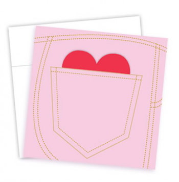 Schoene Back Pocket Mini Valentine Card