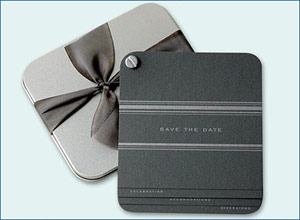 Dauphine Press Metallic Save the Date Cards
