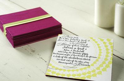 Mr. Boddington's Studio Minnesota Wedding Invitation