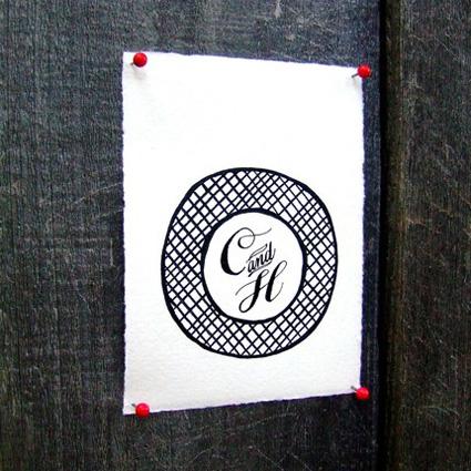 Personalized Calligraphy Monogram
