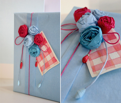 Tissue Paper Rose Gift Wrap