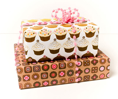Whimsy Press Cupcakes and Chocolates Gift Wrap